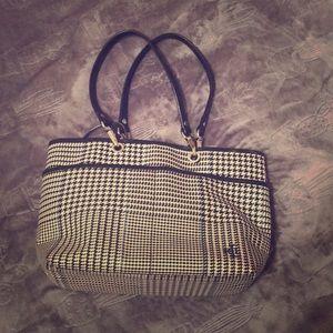 Polo Ralph Lauren Handbag in Houndstooth Blue